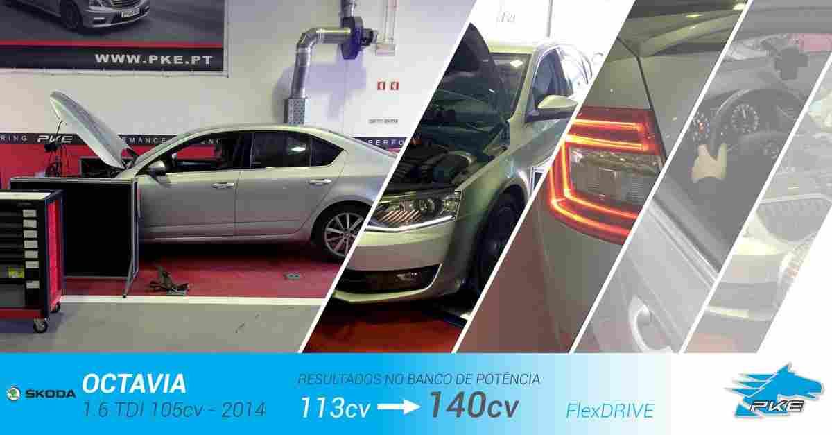 PKE FlexDRIVE em Skoda Octavia 1.6 TDI 105cv – 2014