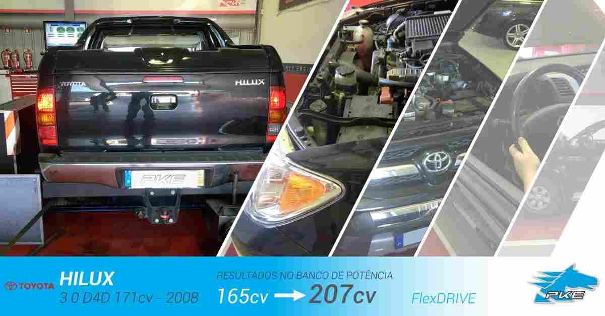 PKE FlexDRIVE em Toyota Hilux 3.0 D4D 171cv – 2008