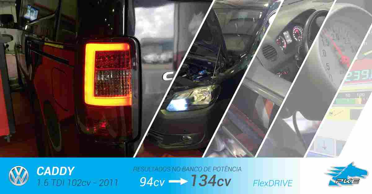 PKE FlexDRIVE em Volkswagen Caddy 1.6 TDI 102cv – 2011