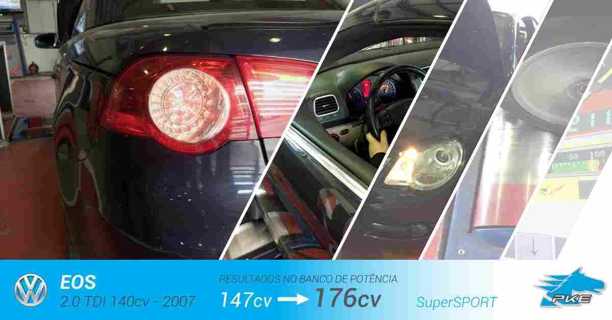 PKE SuperSPORT em Volkswagen Eos 2.0 TDI 140cv – 2007