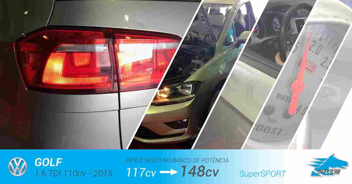 PKE SuperSPORT em Volkswagen Golf 1.6 TDI 110cv – 2015