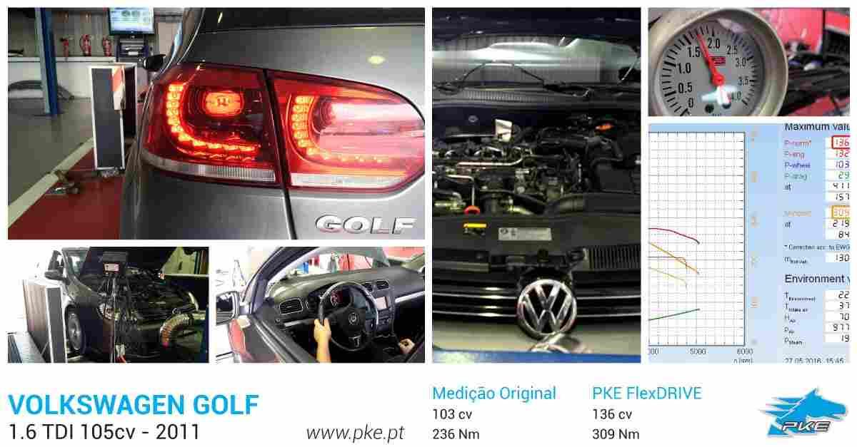 PKE FlexDRIVE em Volkswagen Golf 1.6 TDI 105cv – 2011