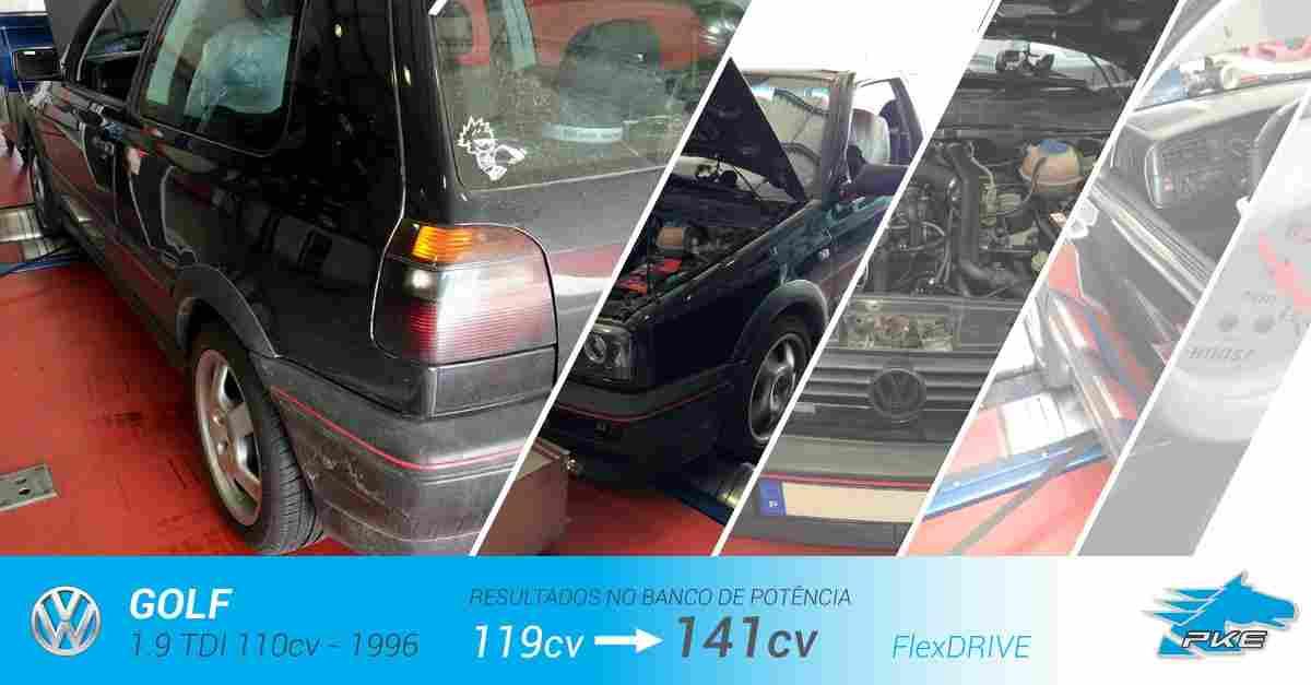 PKE FlexDRIVE em Volkswagen Golf 1.9 TDI 110cv – 1996