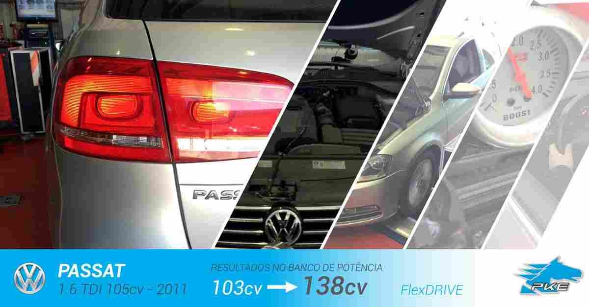 PKE FlexDRIVE em Volkswagen Passat 1.6 TDI 105cv – 2011