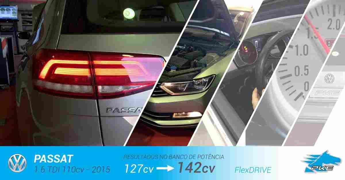 PKE FlexDRIVE em Volkswagen Passat 1.6 TDI 110cv – 2015