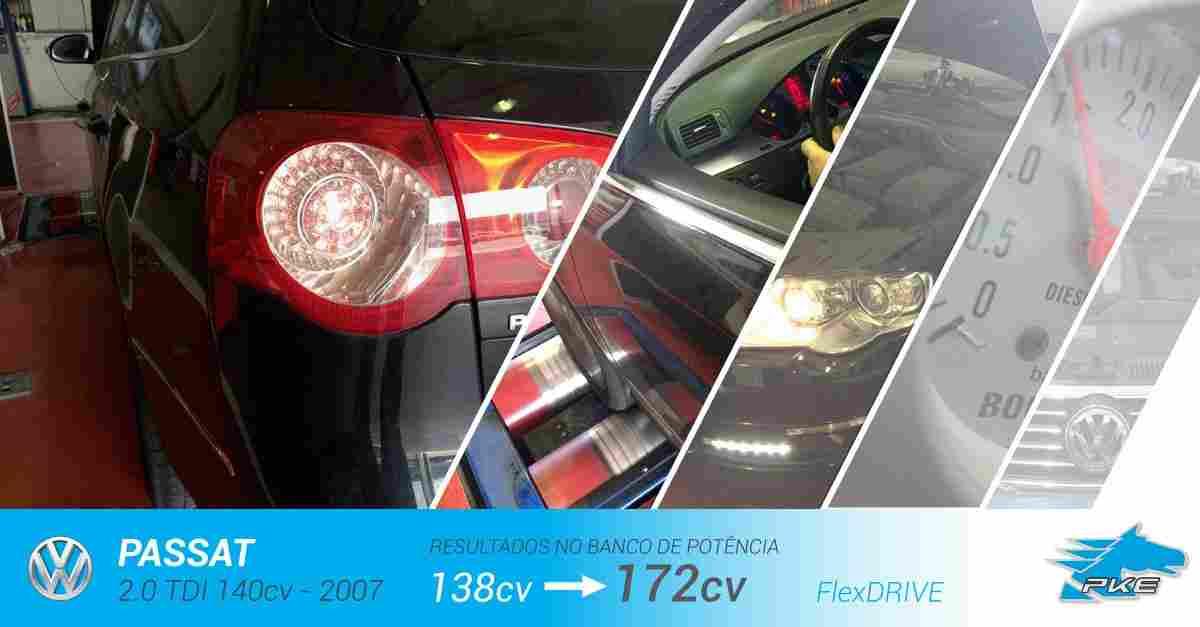 PKE FlexDRIVE em Volkswagen Passat 2.0 TDI 140cv – 2007