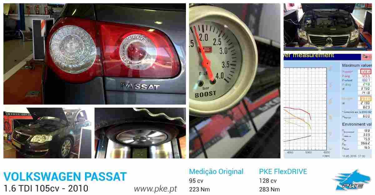 PKE FlexDRIVE em Volkswagen Passat 1.6 TDI 105cv – 2010