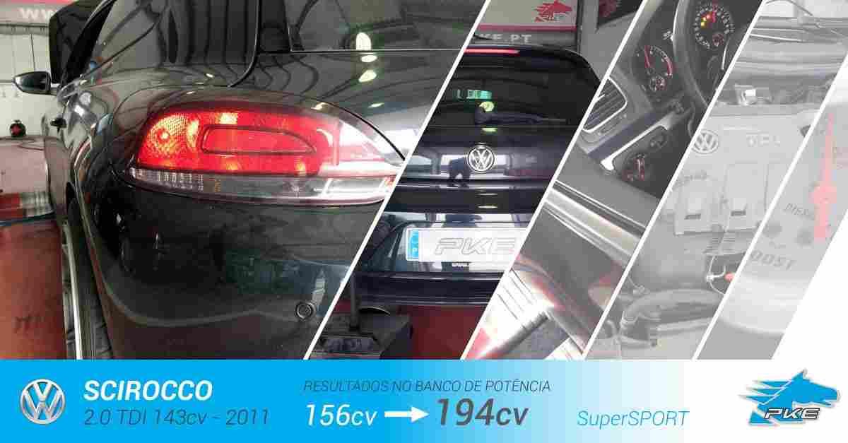 PKE SuperSPORT em Volkswagen Scirocco 2.0 TDI 143cv – 2011