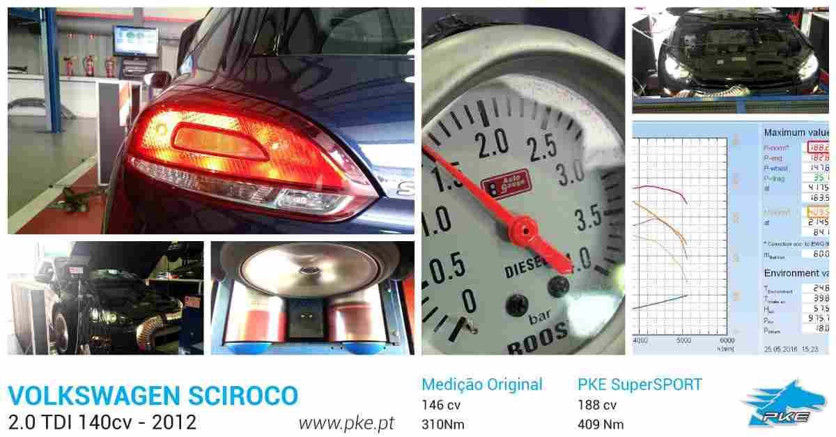 PKE SuperSPORT em Volkswagen Scirocco 2.0 TDI 140cv – 2012